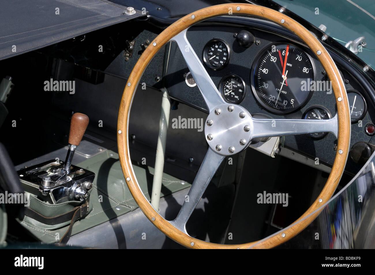 Racing car cockpit Silverstone Classic 2009 - Stock Image