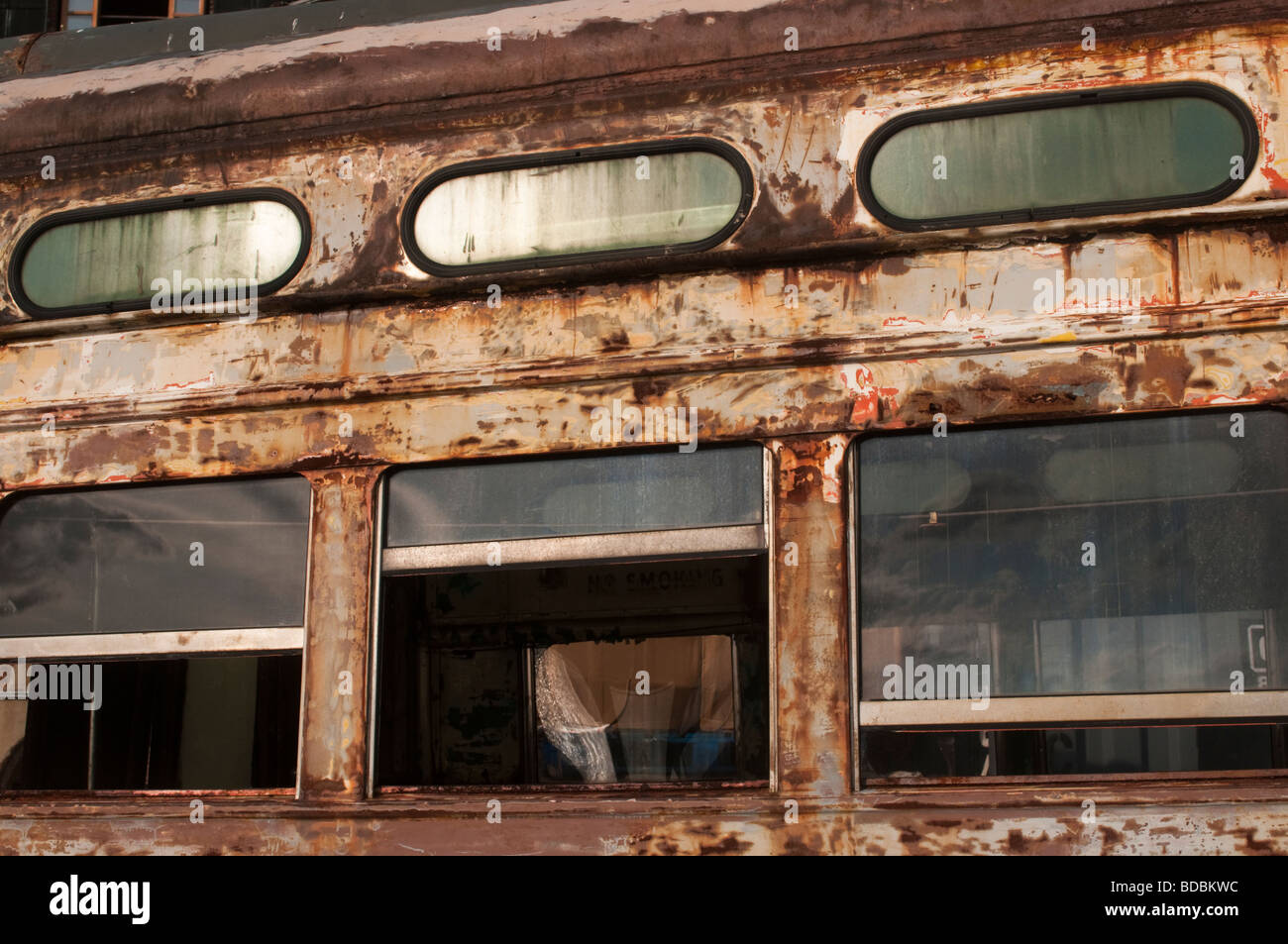 Old Red Hook Trolley - Stock Image
