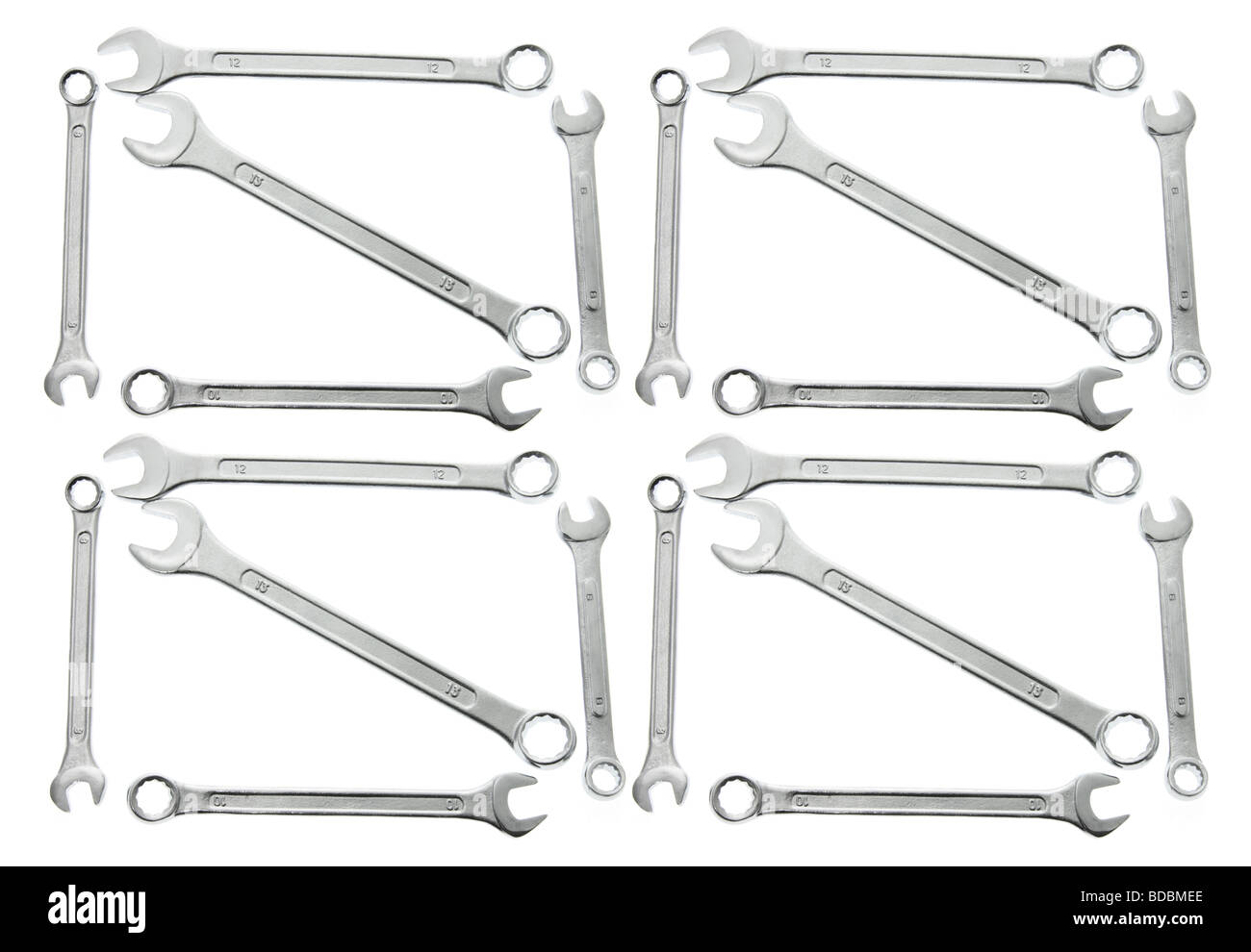 Arrangement of Spanners - Stock Image