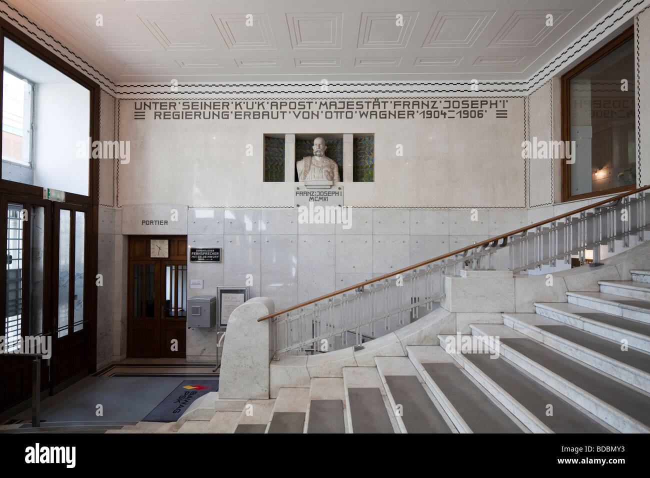 Interior Staircase, Post Office Savings Bank (Postsparkasse), Desgined By  Otto Wagner,