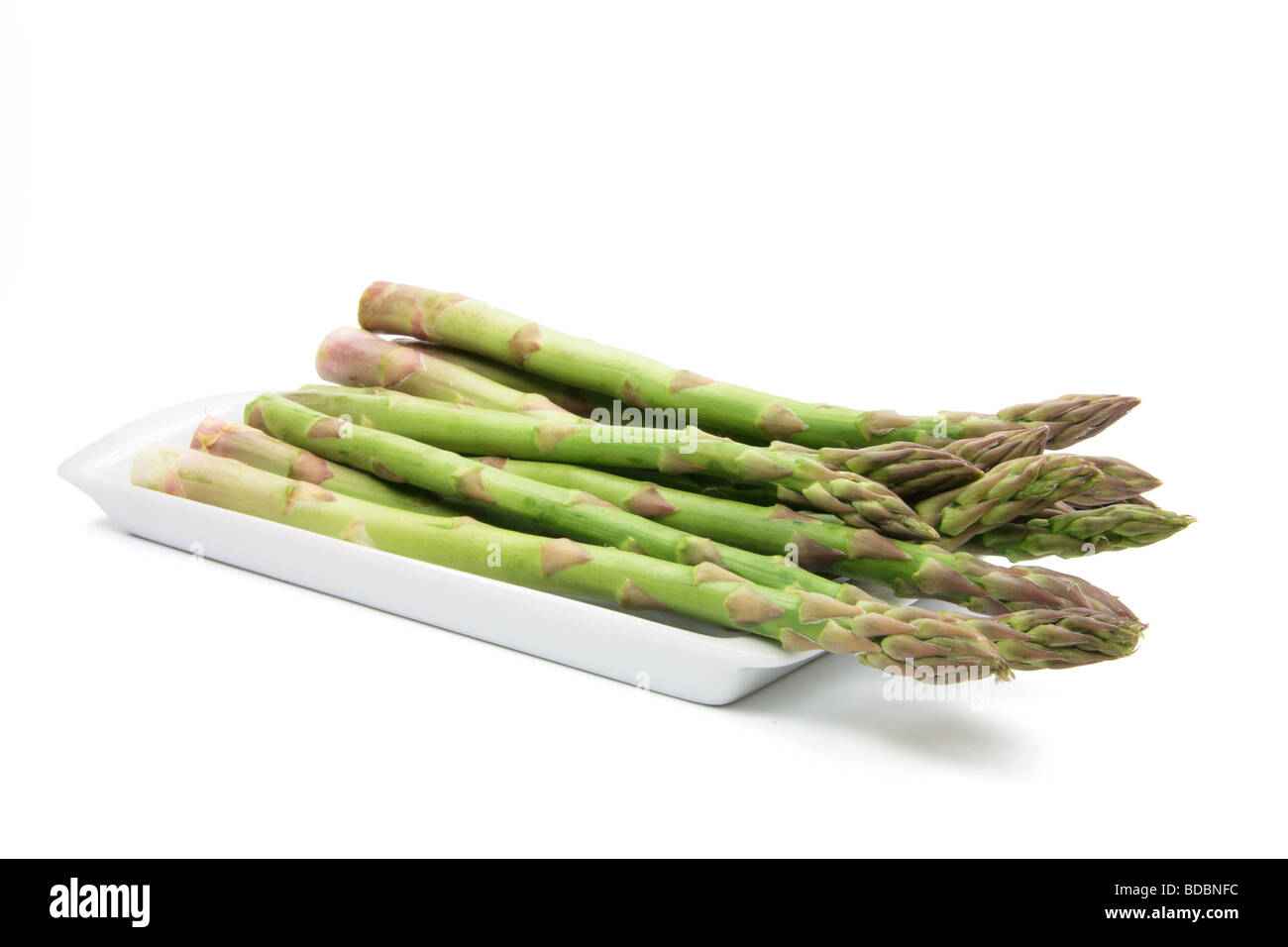 Plate of Asparagus - Stock Image