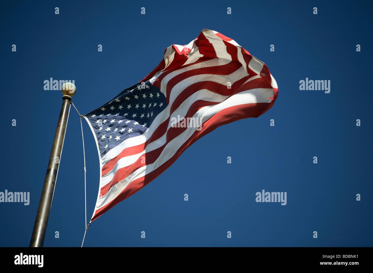 USA national flag fluttering - Stock Image