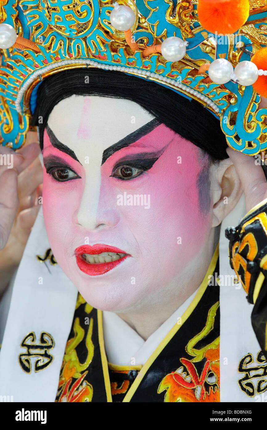 Vancouver Cantonese Opera performer at Dragon Boat festival Victoria British Columbia Canada - Stock Image