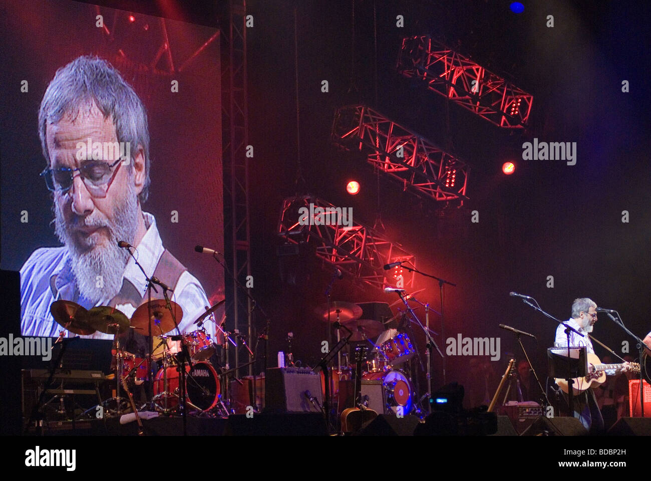 Yusuf Islam Cat Stevens performing at the Fairport Cropredy Convention music festival 2009 This was the first musicStock Photo