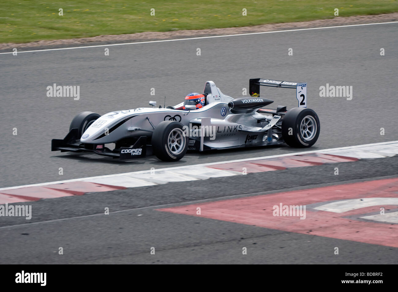 Henry Arundel in his Formula 3 Dallara Volkswagen at Silverstone - Stock Image