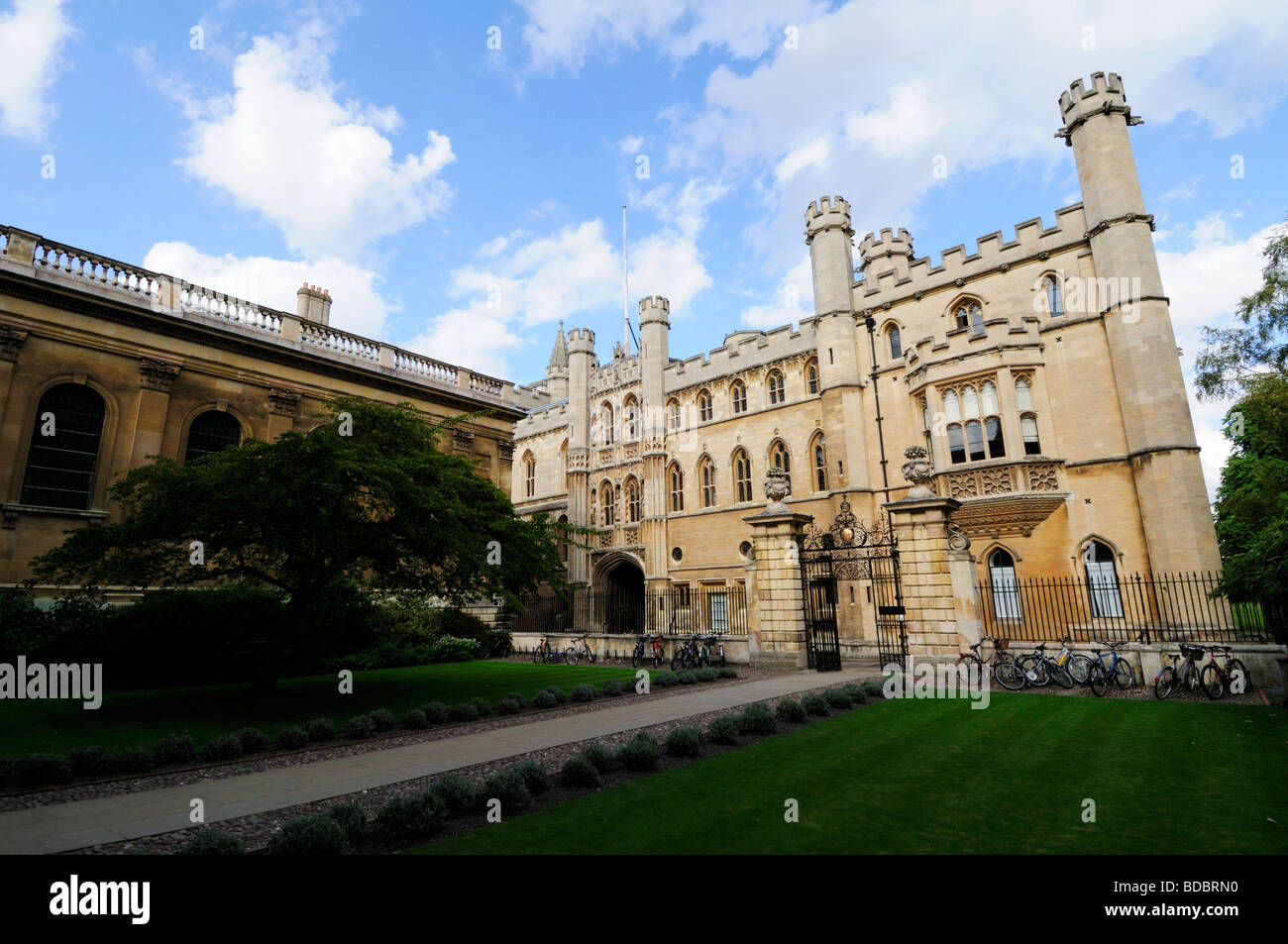 The Old Schools University Offices building and Clare College, Cambridge England UK - Stock Image