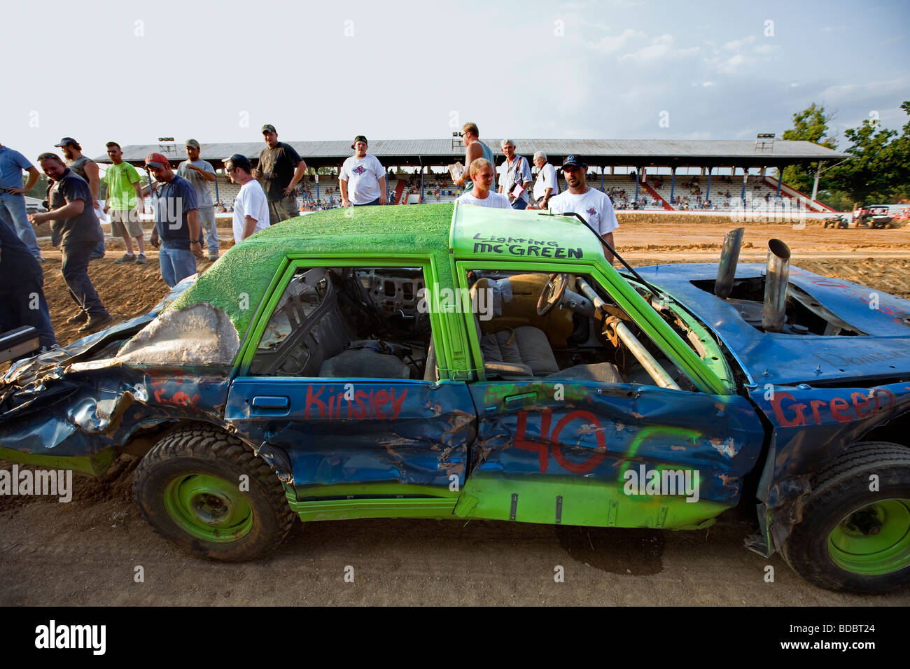 USA Tennessee Demolition derby at Putnam County Fair in Cookeville - Stock Image