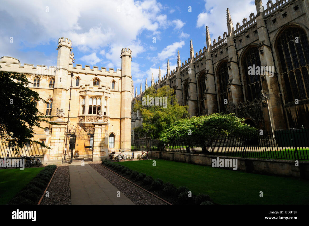 The Old Schools Offices building and Kings College Chapel, Cambridge England UK - Stock Image