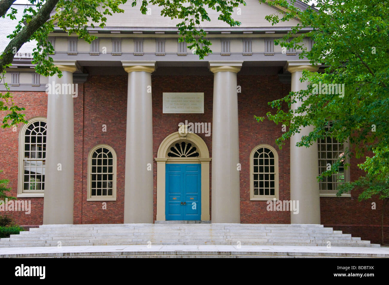 Memorial Church Harvard University Boston Massachusetts - Stock Image