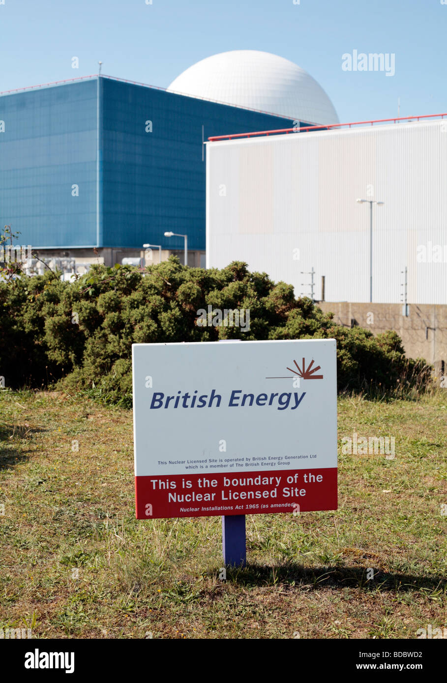 Sizewell B nuclear power station, Suffolk UK. - Stock Image