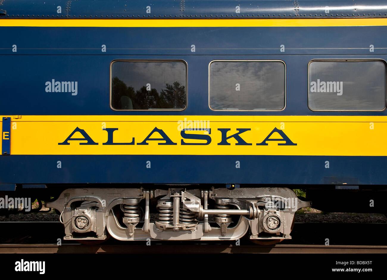 Alaska railroad train car - Stock Image
