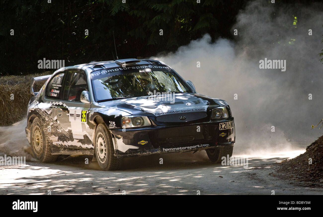 2003 Hyundai Accent Wrc Evo 3 5 Rally Car On The Forest Stage At
