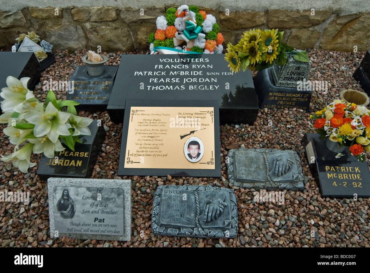 IRA VOLUNTEERS, MEMORIAL, GRAVEYARD,BELFAST - Stock Image