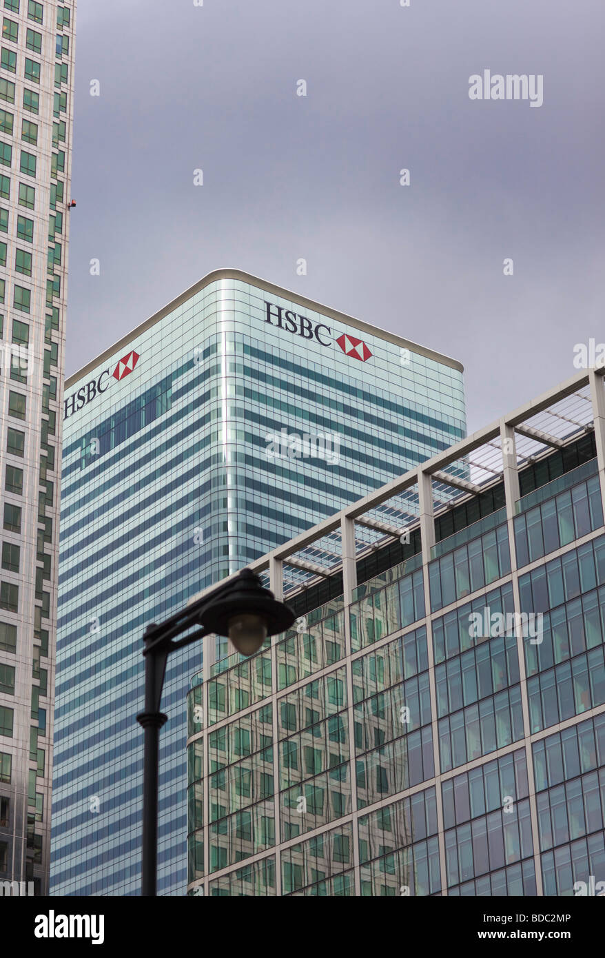 HSBC Bank and Upperbank at Canary Wharf in London - Stock Image