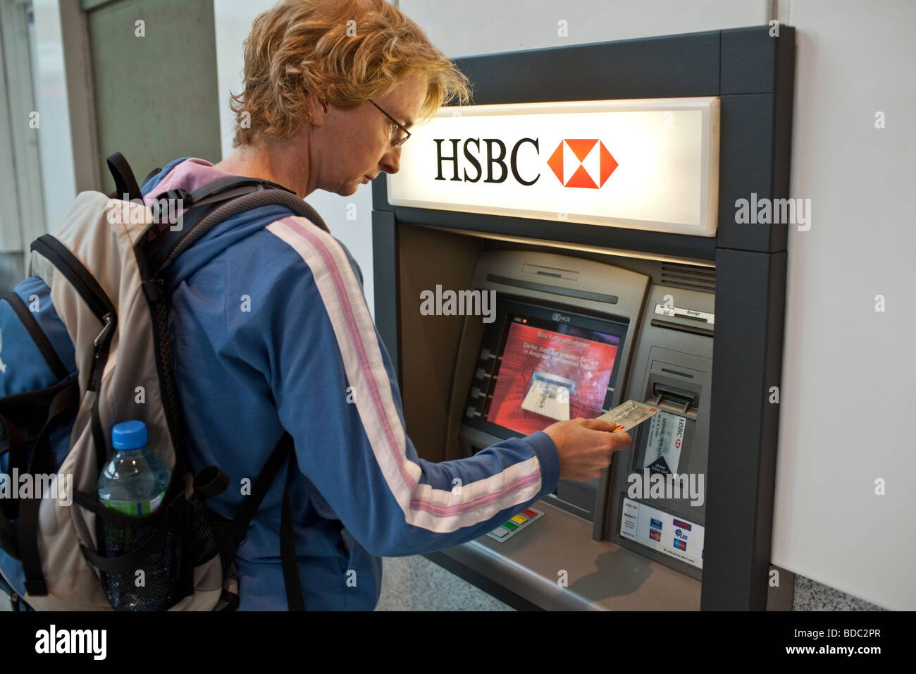 Cashpoint of HSBC Bank Stock Photo