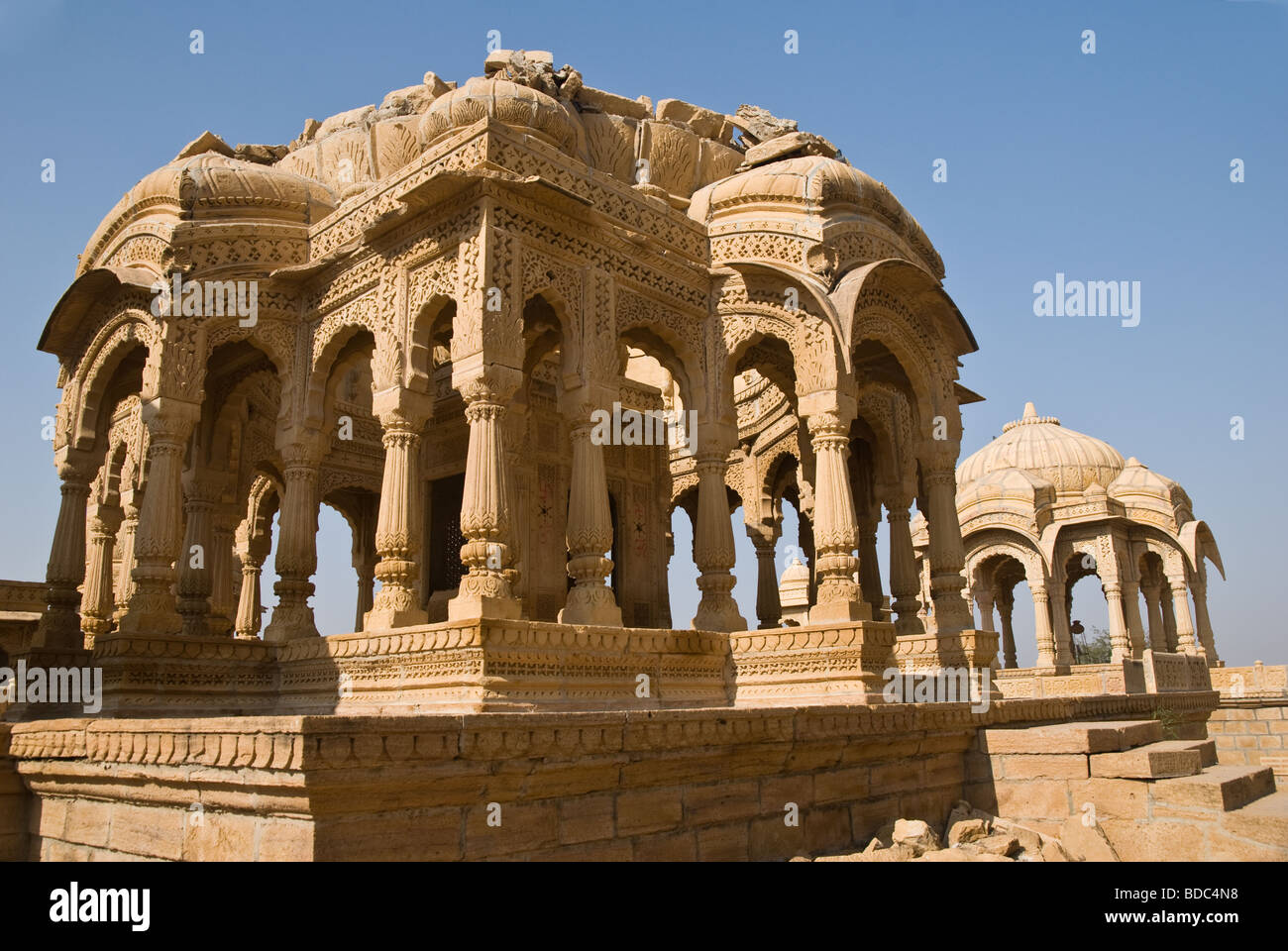 A cenotaph at Bada Bagh, Jaisalmer, Rajasthan, India Stock Photo