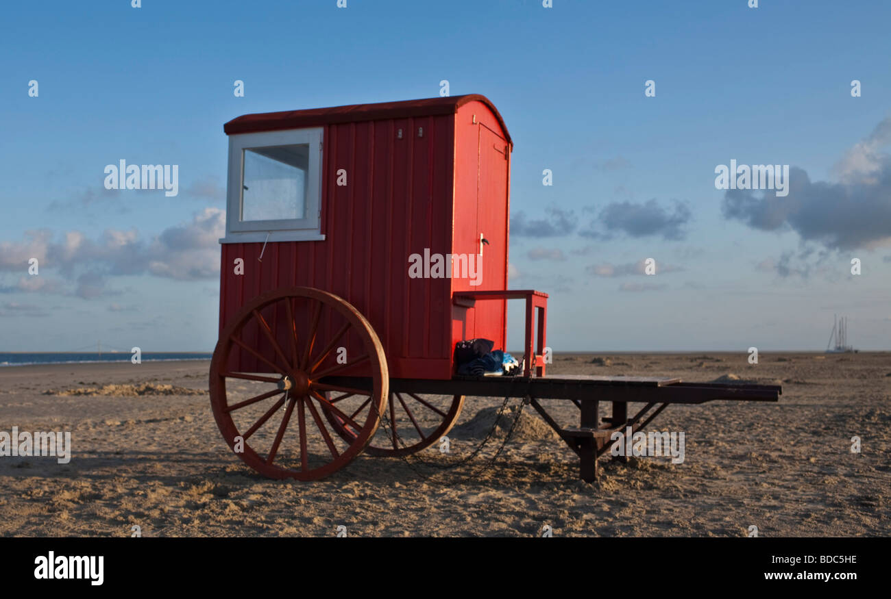 Cart at the Northsea in Borkum - Stock Image