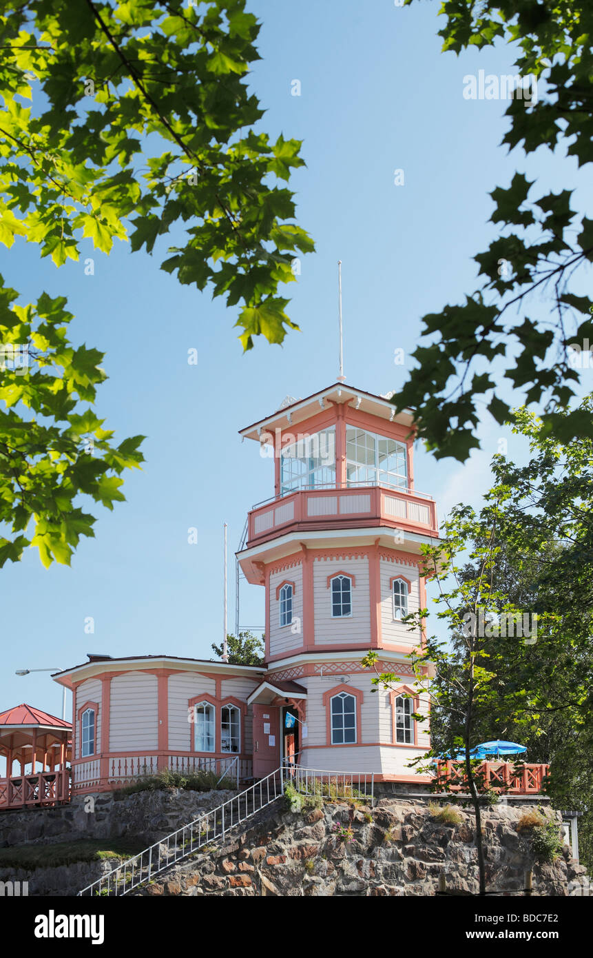 Old Tähtitorni café on Oulu Finland Originally built on ruins of old Oulu castle and used as an observatory - Stock Image