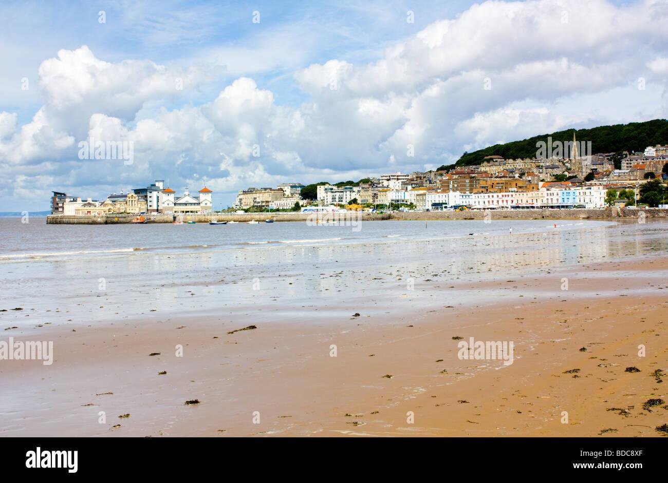 The beach at Weston super Mare Somerset England UK - Stock Image