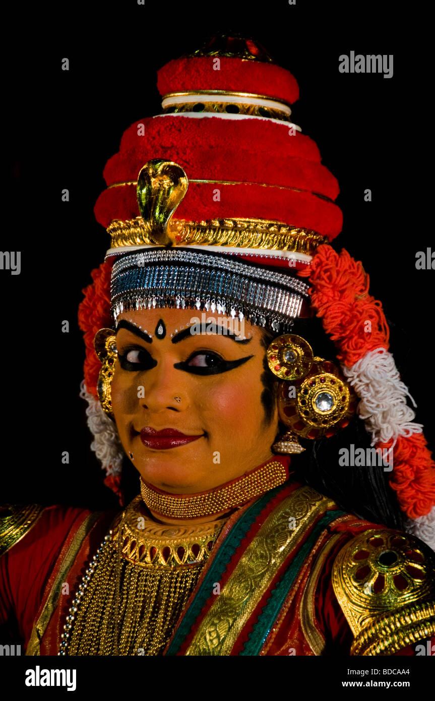 Nangyar Koothu - solo performance, classical dance drama of Kerala - Stock Image