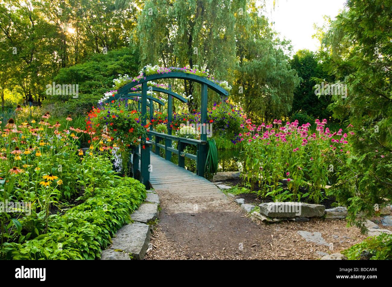 Beautiful Gardens Of The Centre De La Nature Located In Laval Suburbs  Montreal Quebec Canada