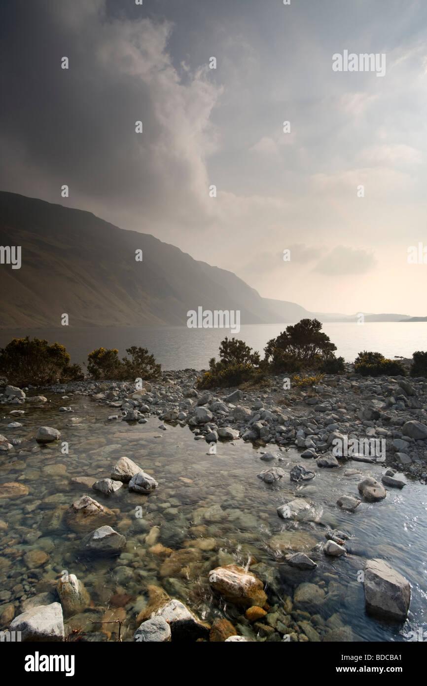Mountain Lake with Streams, Lancashire - Stock Image