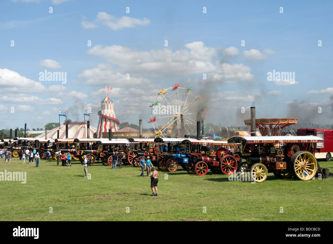traction engine show engines steam power powered fairground fairgrounds fair fairs ground grounds traditional - Stock Image