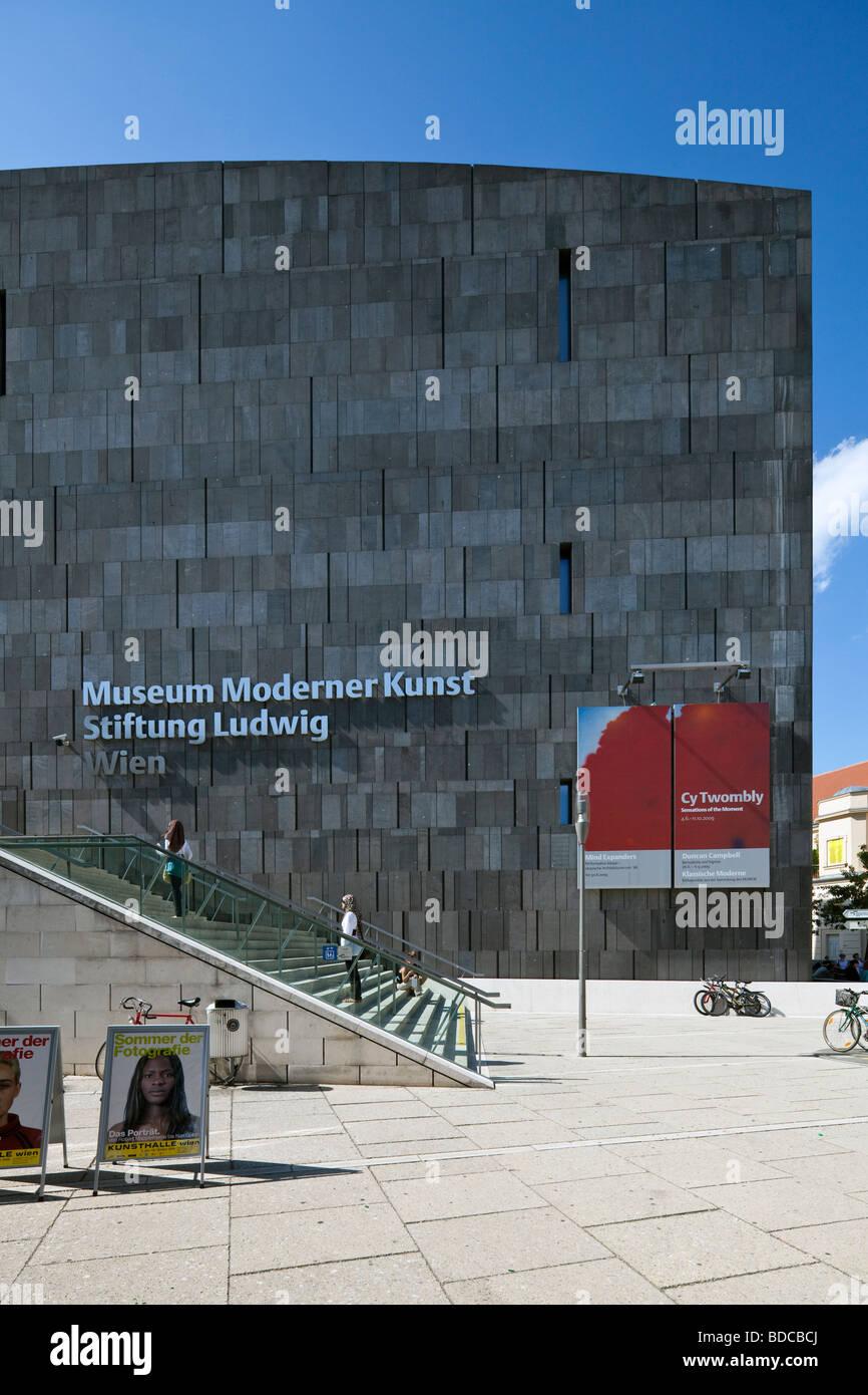MUMOK, MUseum MOderner Kunst, Museum of Modern Art,  MuseumsQuartier, Vienna, Austria - Stock Image