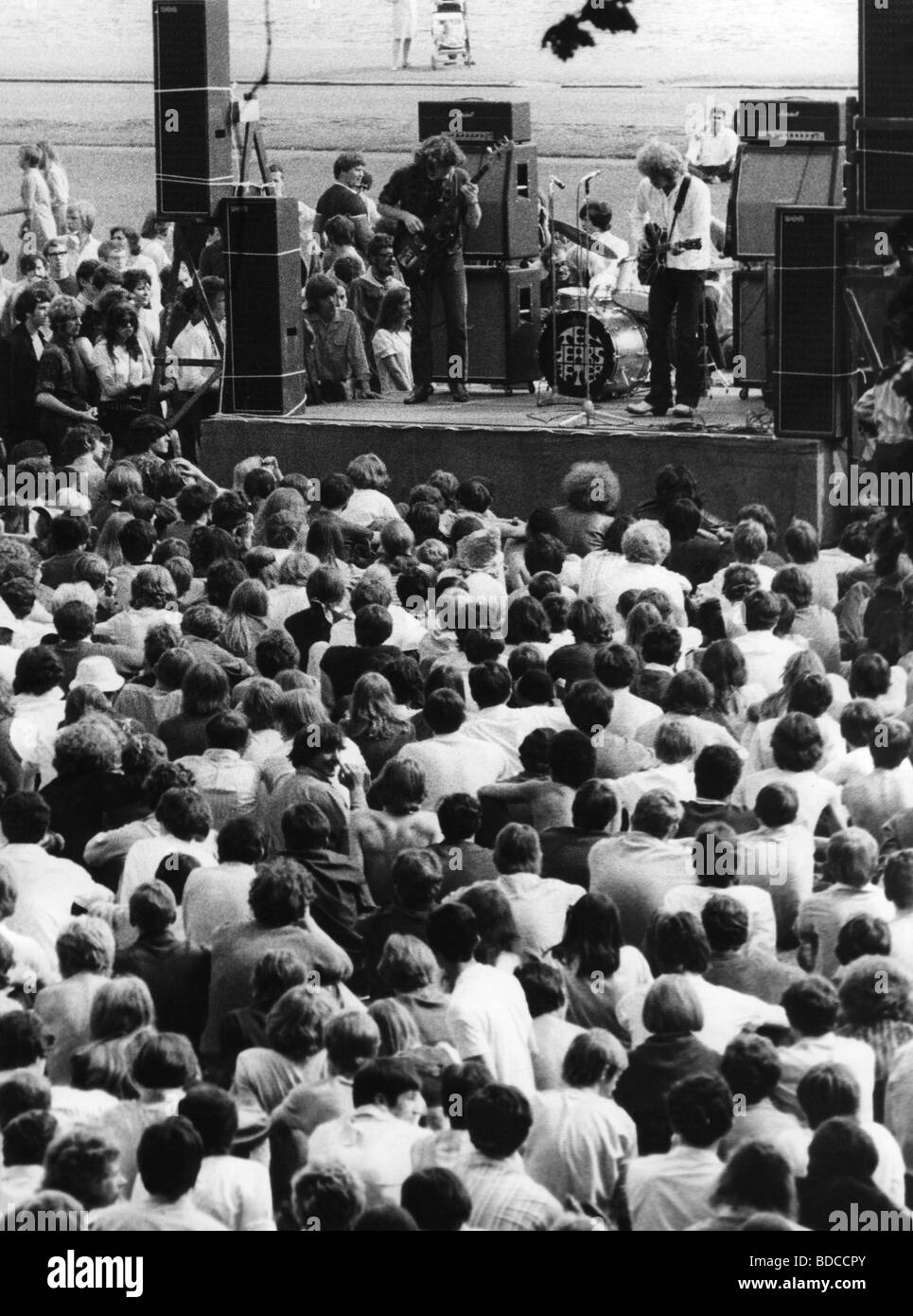 Ten Years After, British band, founded 1967, at a performance, circa 1970, , Additional-Rights-Clearances-NA - Stock Image