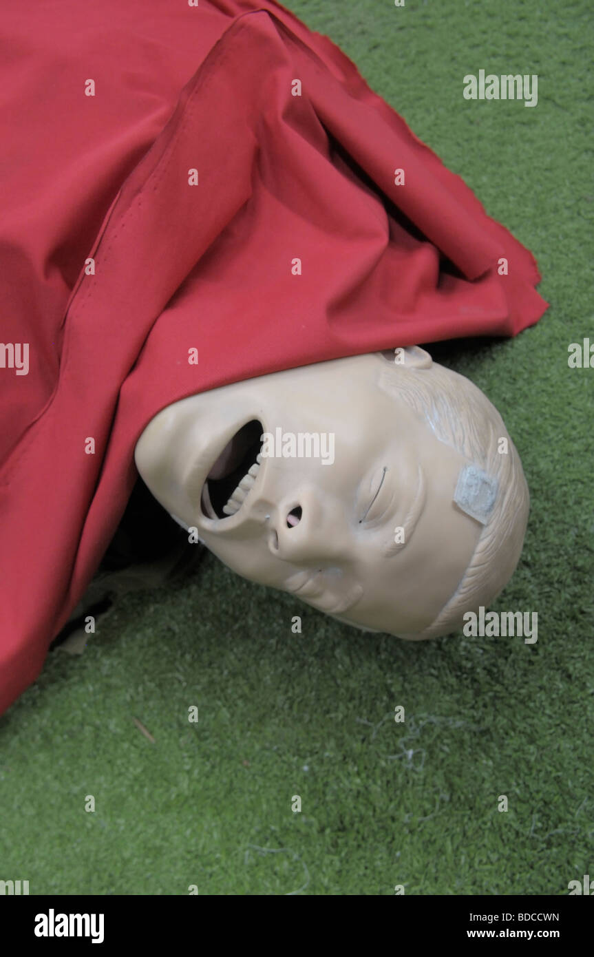 A plastic resus dummy in the IDF military paramedic training school in Israel - Stock Image