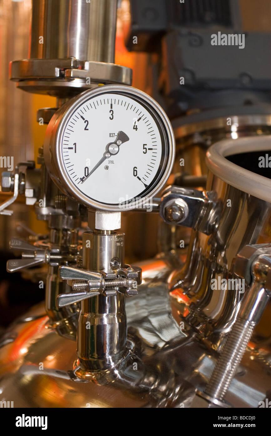 The industrial gauge of pressure - Stock Image