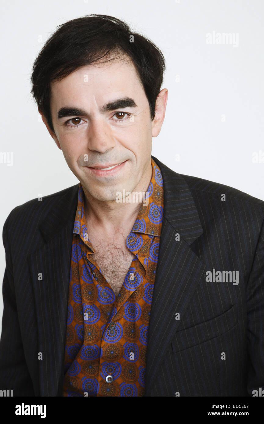 Sanchez, Oscar Ortega, * 1962, German actor, portrait, photo call to the tv movie 'Die Tote in der Zisterne', - Stock Image