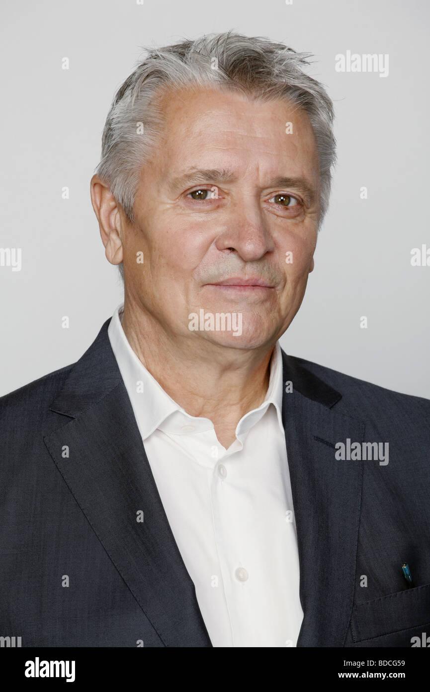 Hübchen, Henry, * 20.2.1947, German actor, portrait, photo call to the tv series 'Commissario Laurenti - Stock Image