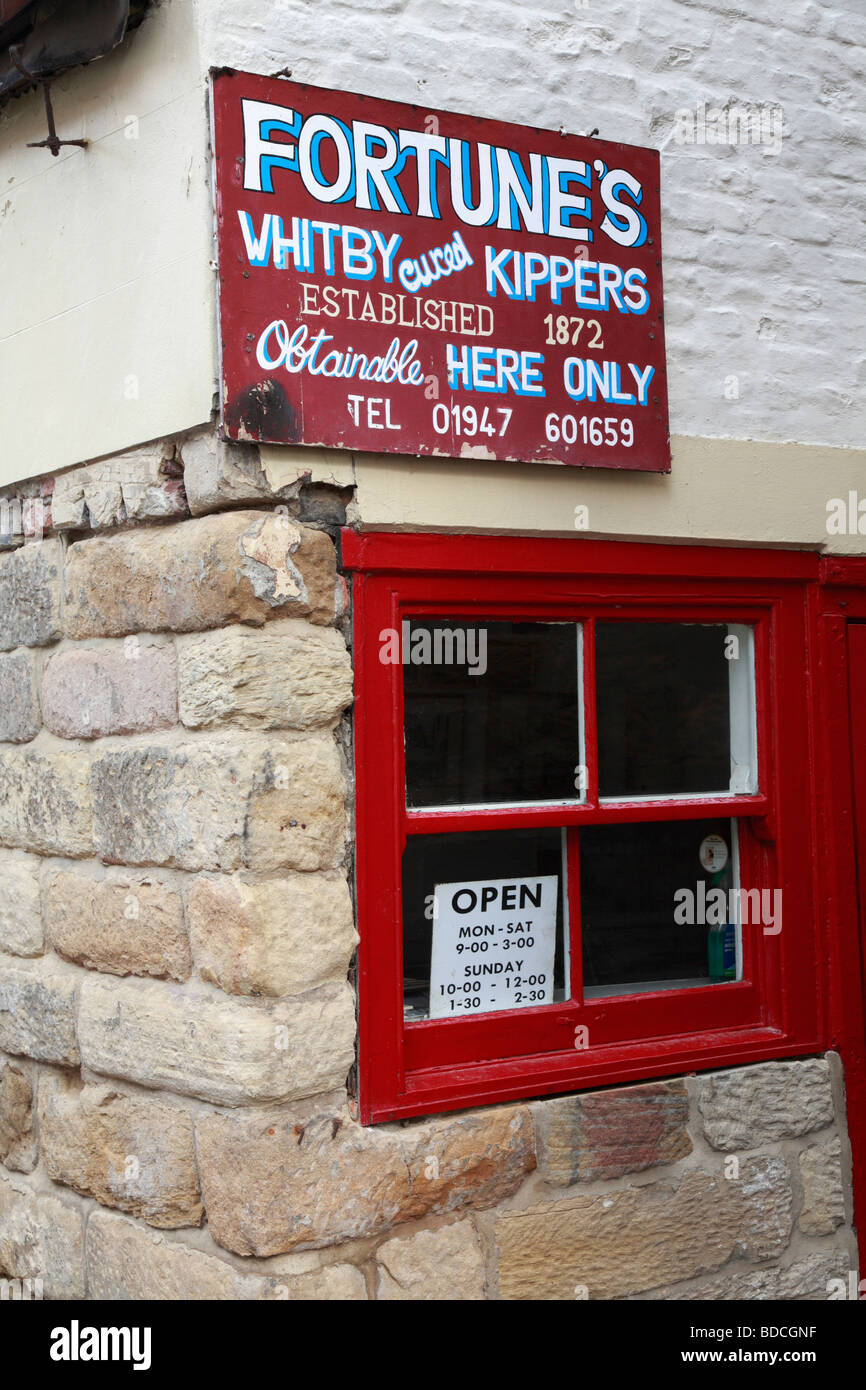 Fortune's Kipper Shop, Whitby, North Yorkshire, England, UK. - Stock Image
