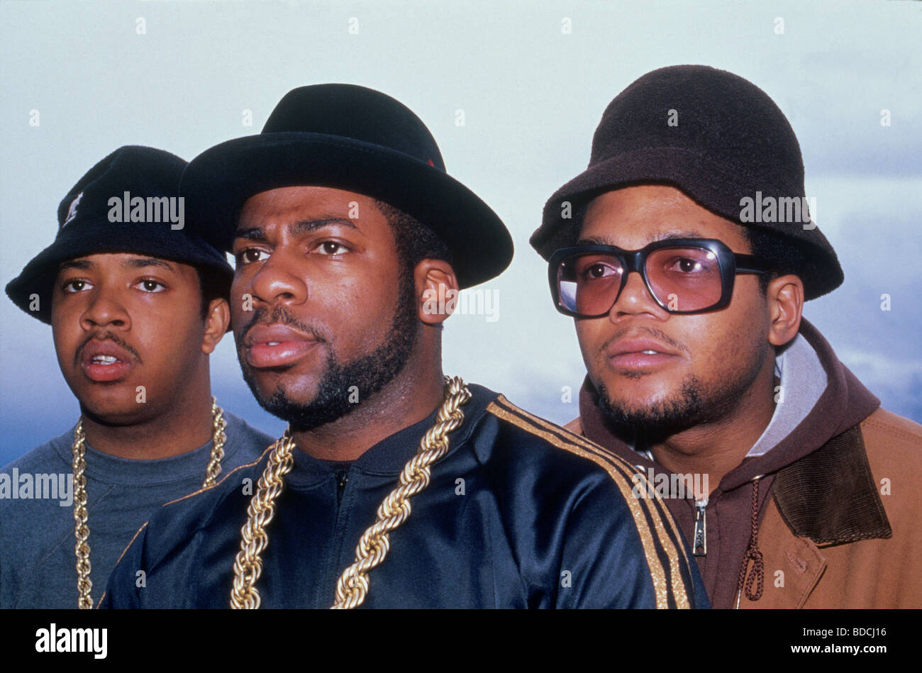 RUN-DMC  US rap group in 1986 - Stock Image