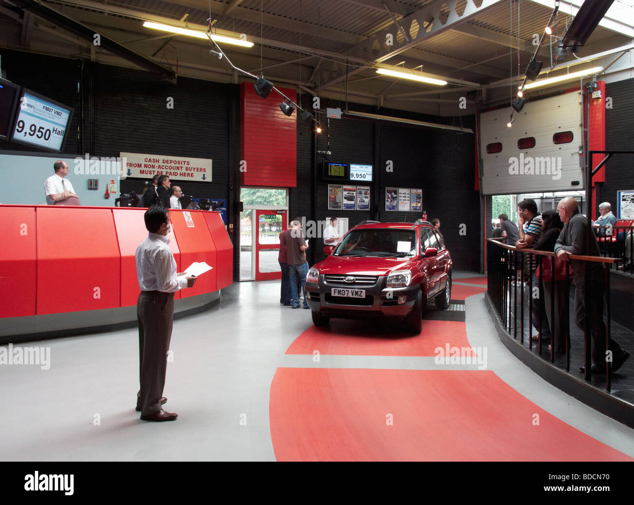 Sale room at British Car Auctions (BCA) site in Brighouse with ...