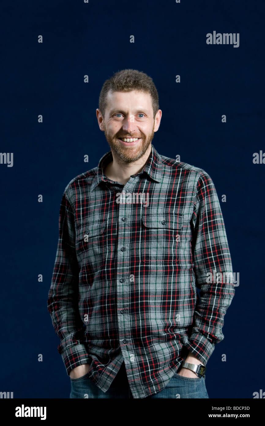 Dave Gorman, award winning comedian and television presenter, at the Edinburgh International Book Festival, Edinburgh, - Stock Image