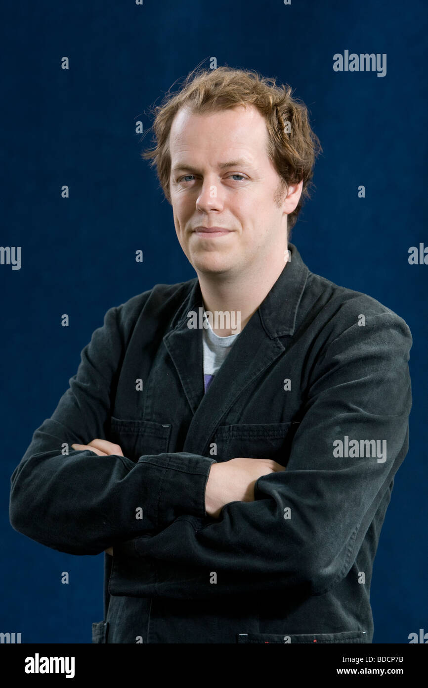 Tom Parker Bowles, food critic and writer son of Camilla Parker Bowles, at the Edinburgh International Book Festival, - Stock Image