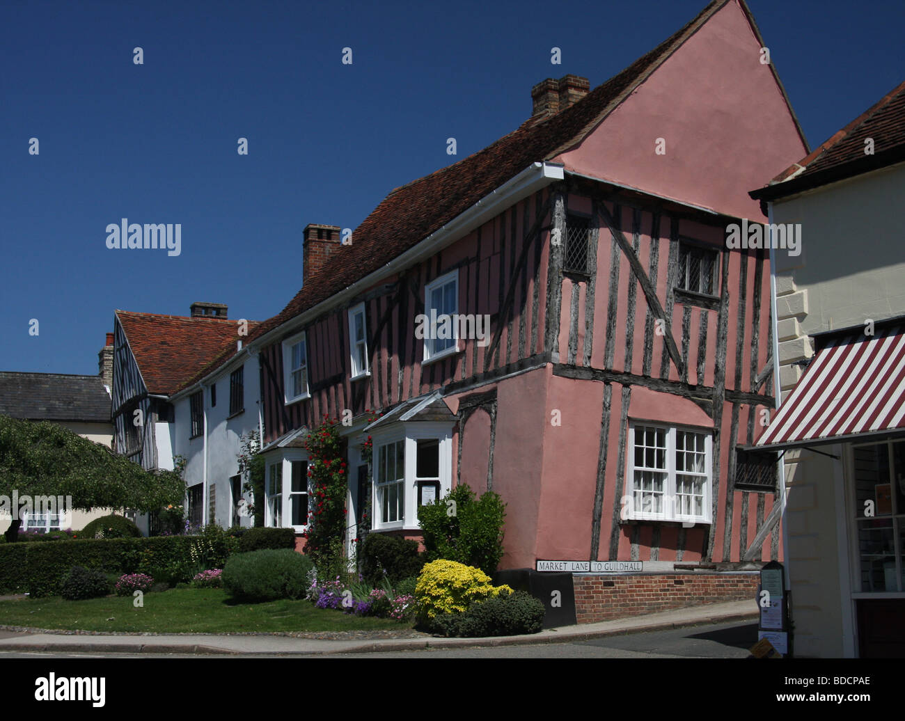 Lavenham crooked house 31st May 2009 - Stock Image