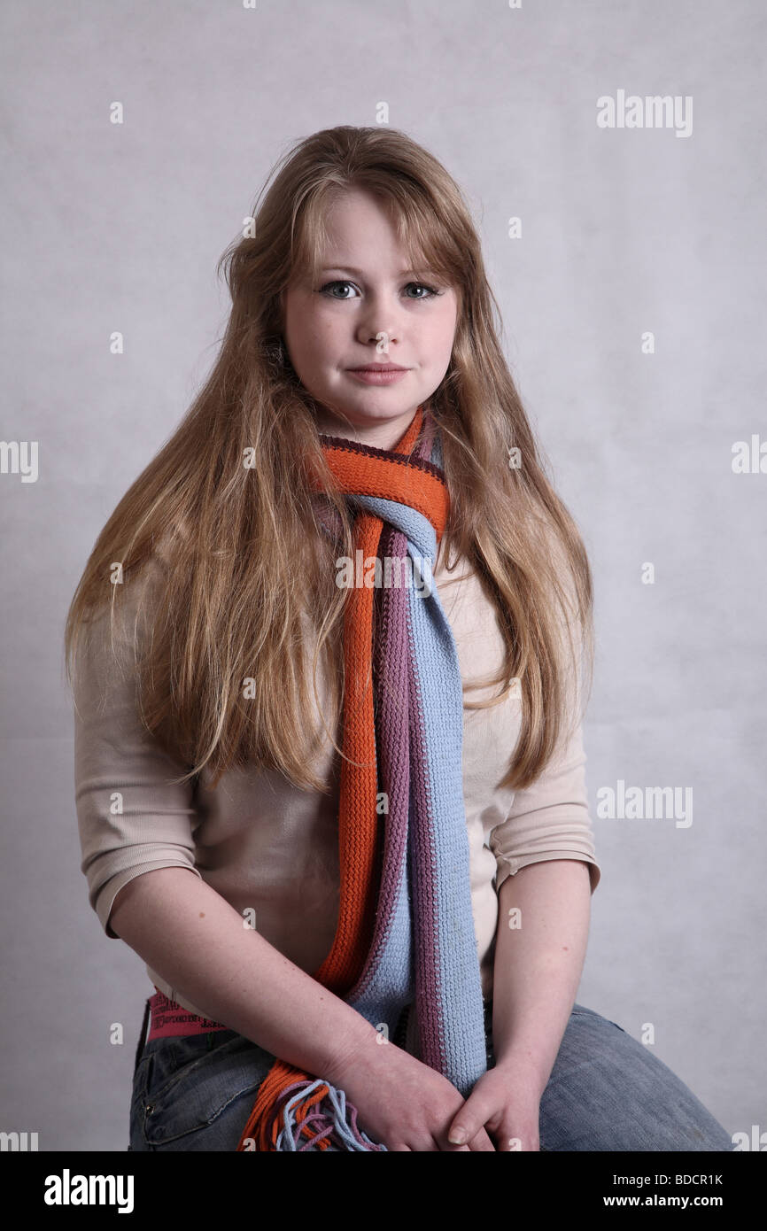 Cute blonde teenage girl of seventeen. Youth social issue ... on Small:zikqrscfop8= Teenage Girls  id=54217