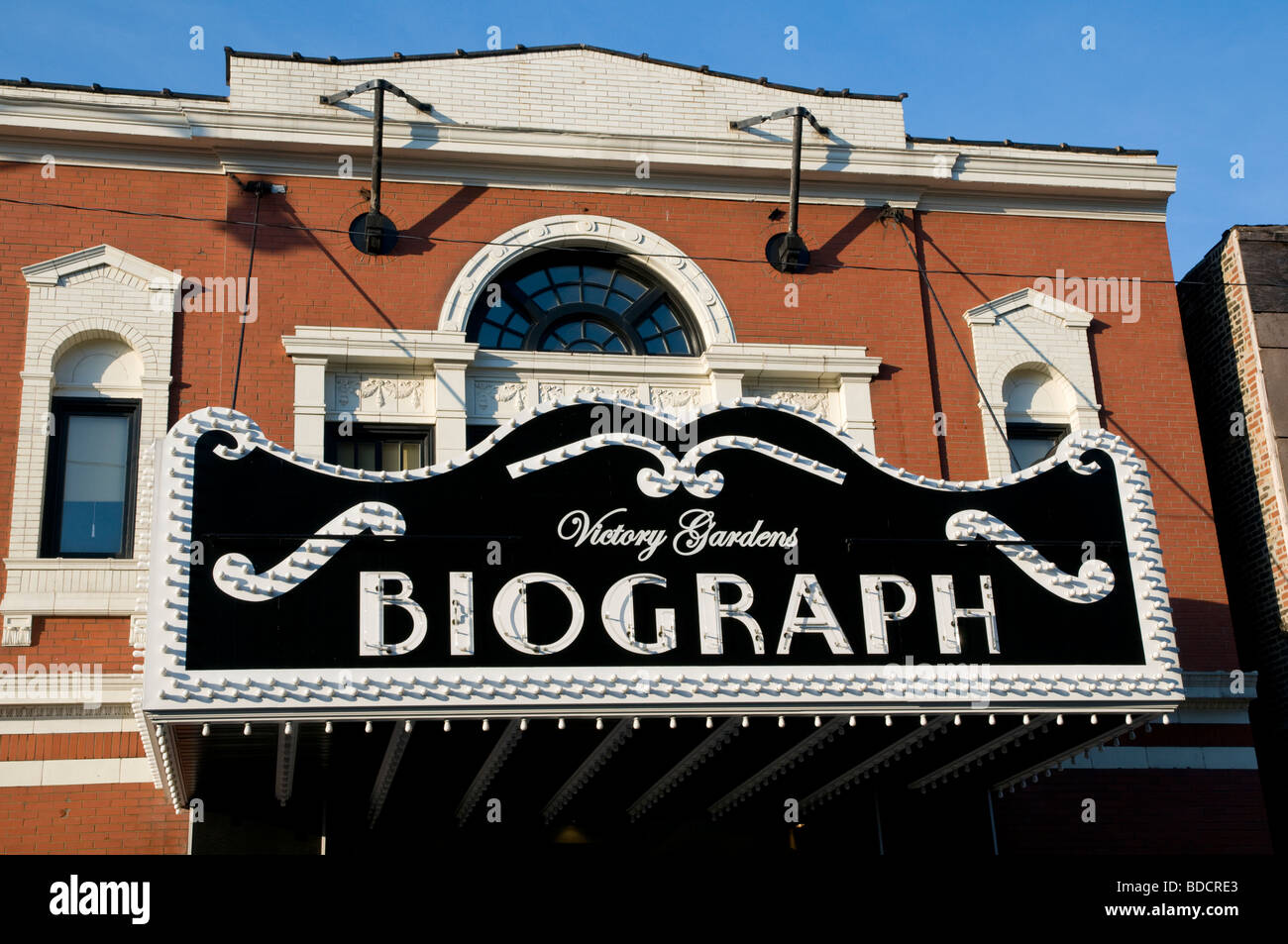 The Biograph Theater, the location where bank robber John Dillinger was shot by the FBI, led by Melvin Purvis, on - Stock Image