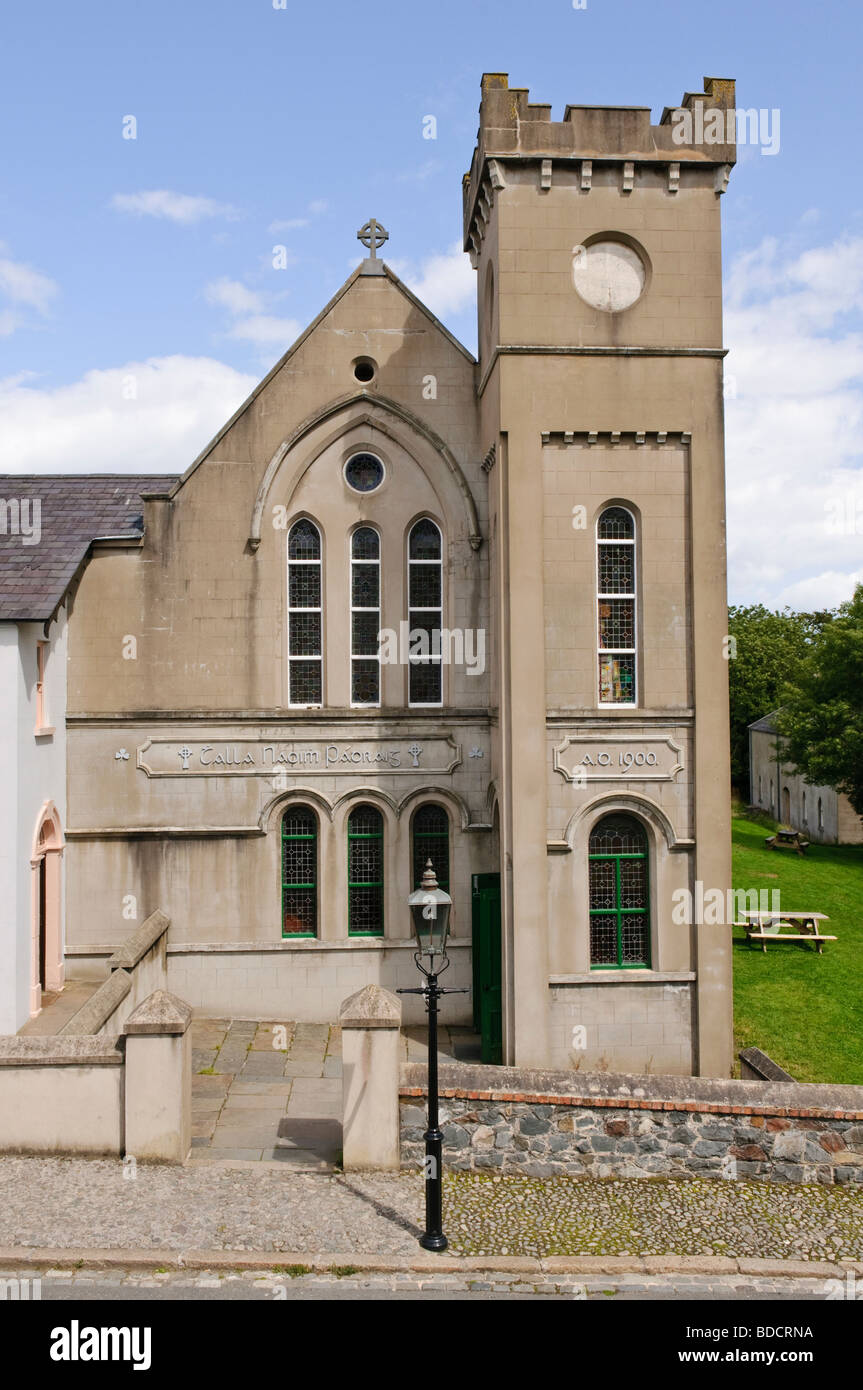 Parochial House at the Ulster Folk and Transport Museum. - Stock Image