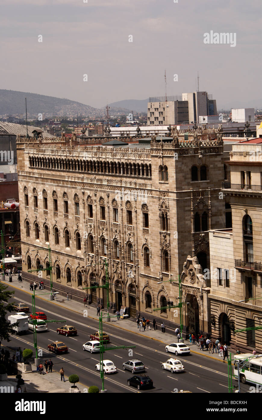 The Palacio Postal or post office in downtown Mexico City - Stock Image