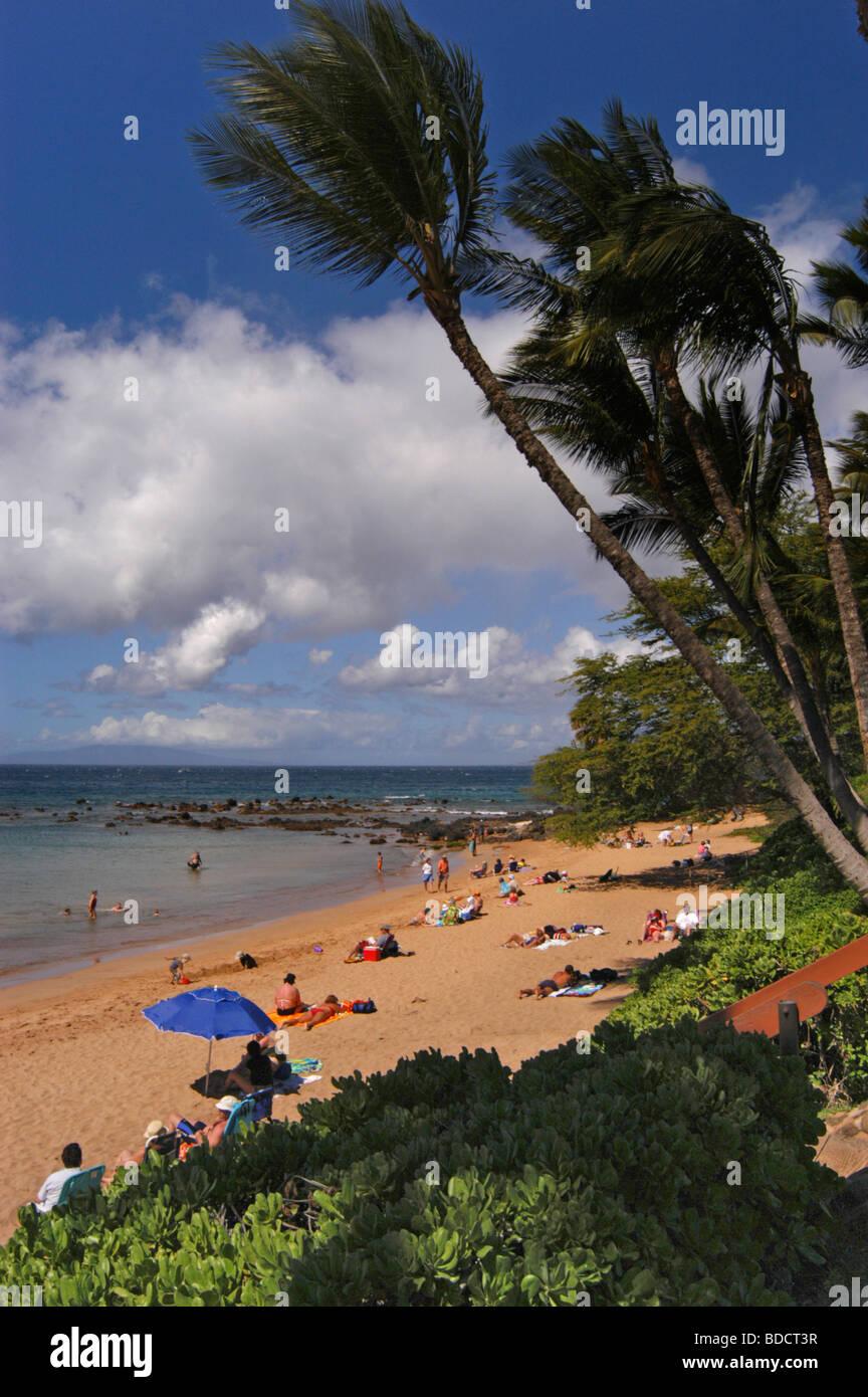 Ulua beach, Wailea, Maui, Hawaii Stock Photo