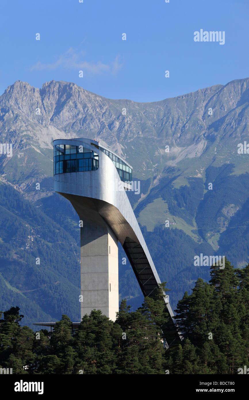 Bergisel ski jump, Innsbruck, Tyrol, Austria, Europe - Stock Image