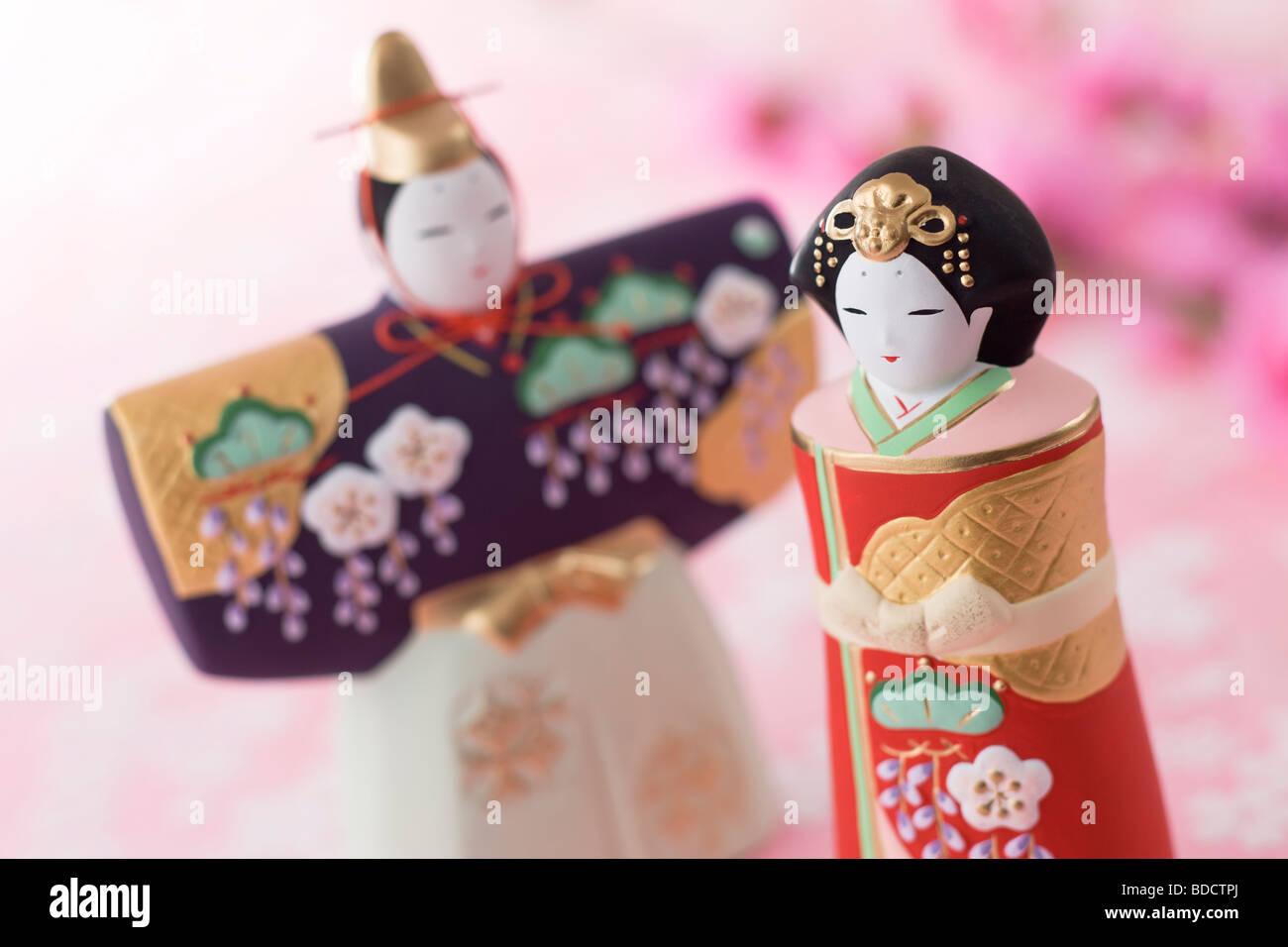 Japanese hinamatsuri doll - Stock Image