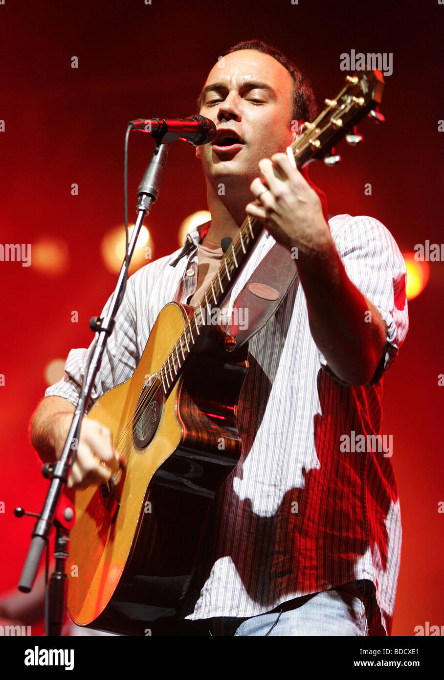 DAVE MATTHEWS - US rock musician - Stock Image