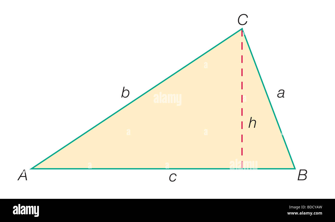 Standard lettering of a triangle - Stock Image
