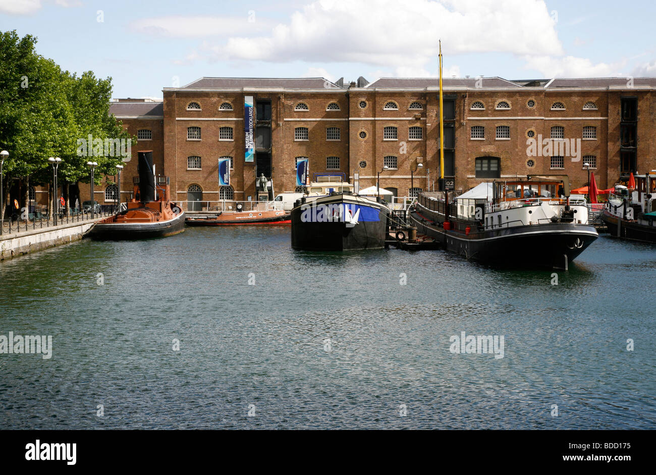Museum of Docklands on West India Dock North, Canary Wharf, London, UK - Stock Image