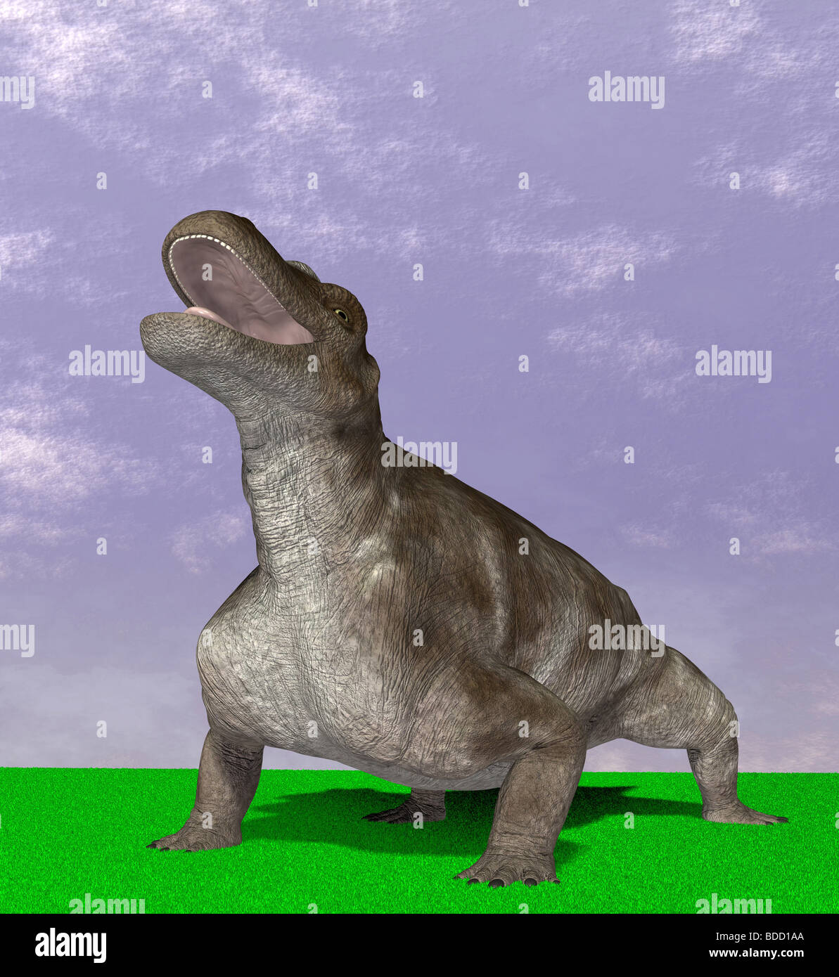 dinosaur Keratocephalus Stock Photo